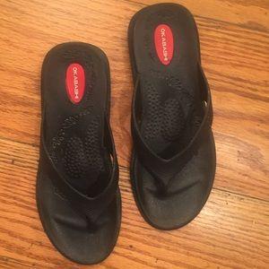 Okabashi Flip Flops, Black